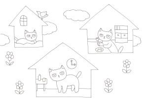 ぶさかわ猫の塗り絵