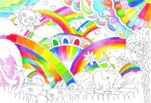 虹色部分の完成