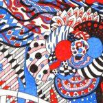 3色ボールペンで塗った塗り絵