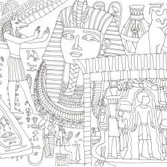 エジプトの図柄の塗り絵