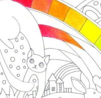 2色グラデーションの拡大図