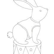 ウサギの塗り絵