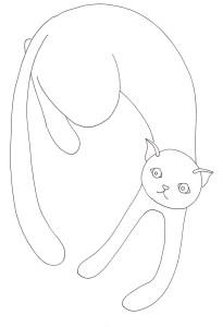 白猫の塗り絵