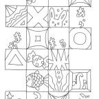 四角枠の塗り絵