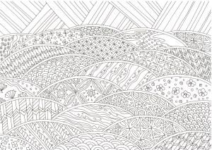 青海波模様の塗り絵