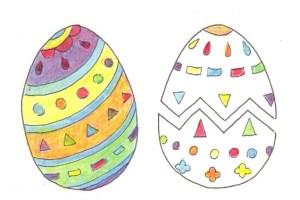 色の3原色の重ね塗り例