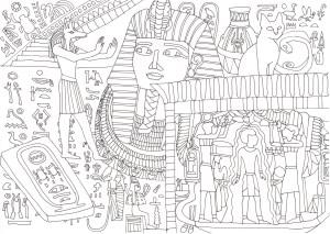 エジプトの遺産の塗り絵