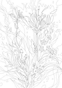 花束の塗り絵