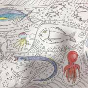 小学4年生が塗った魚の塗り絵