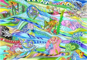 海中の塗り絵