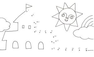 太陽とお城の点つなぎ