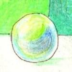 シャボン玉の塗り絵