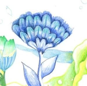 花の塗り絵の例