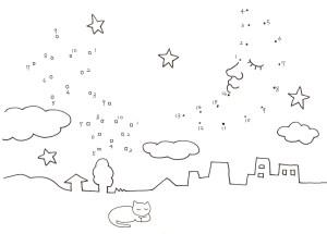 月と星の点つなぎ