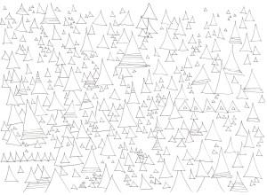 三角の組み合わせの塗り絵