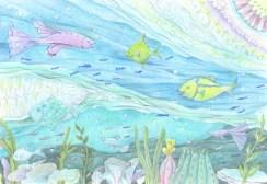 海中の楽園の塗り絵