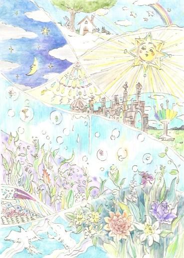 童話の世界の塗り絵
