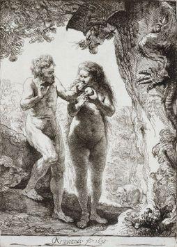 אדם וחוה, תחריט, רמברנט 1638