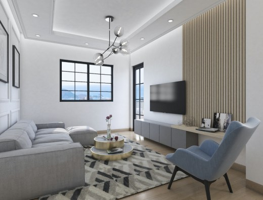 modern one bedroom interior