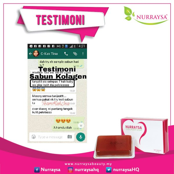 Testimoni Sabun Collagen 06