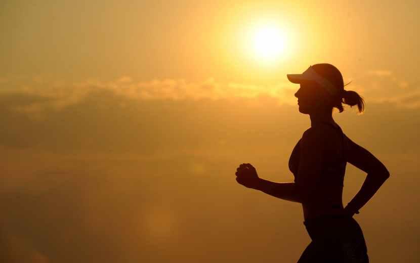 woman girl silhouette jogger