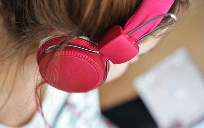 person woman music pink