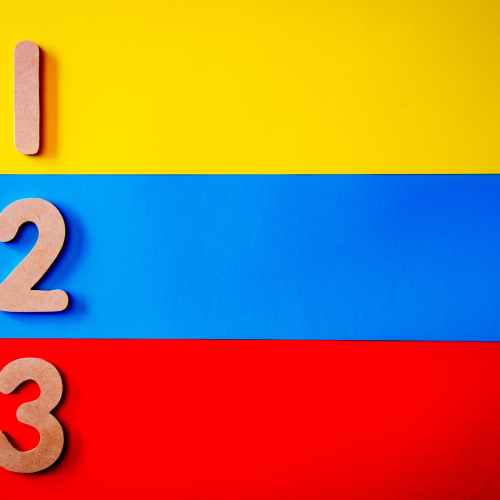 blue red and yellow stripe surface