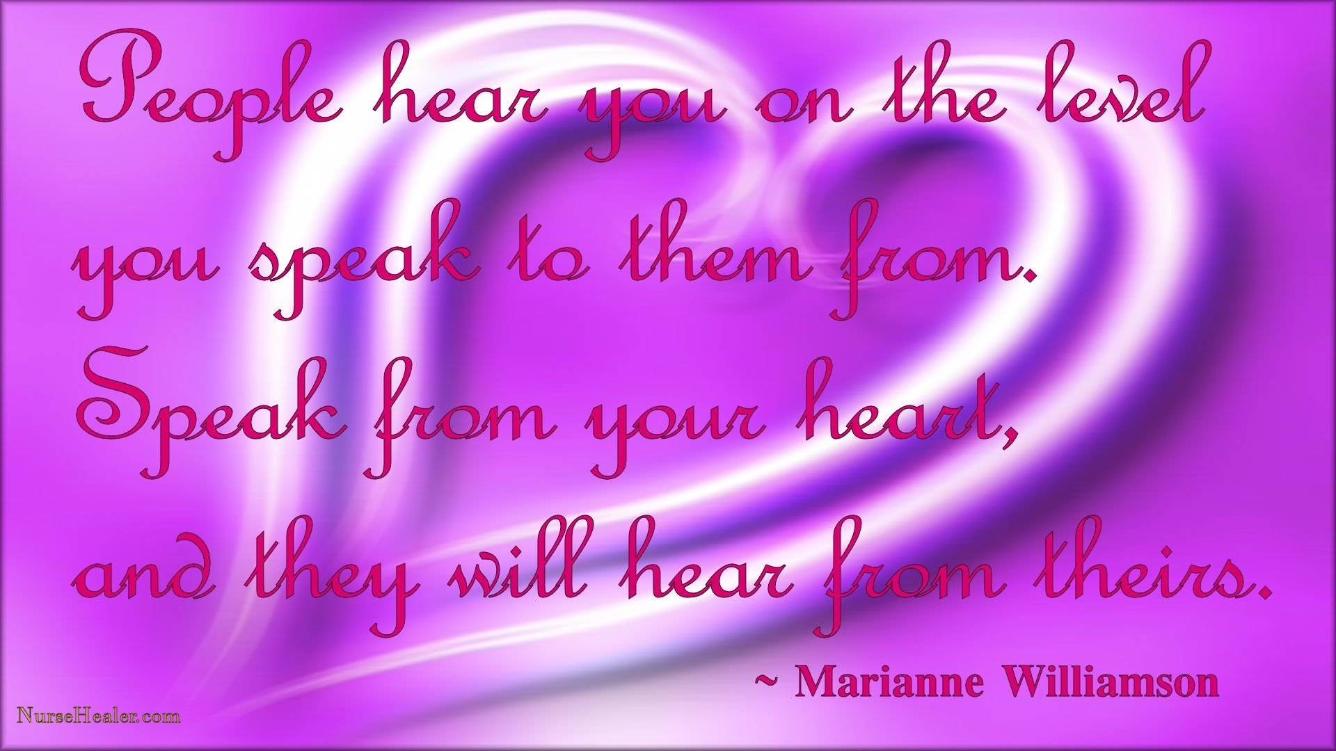 Speak from the Heart