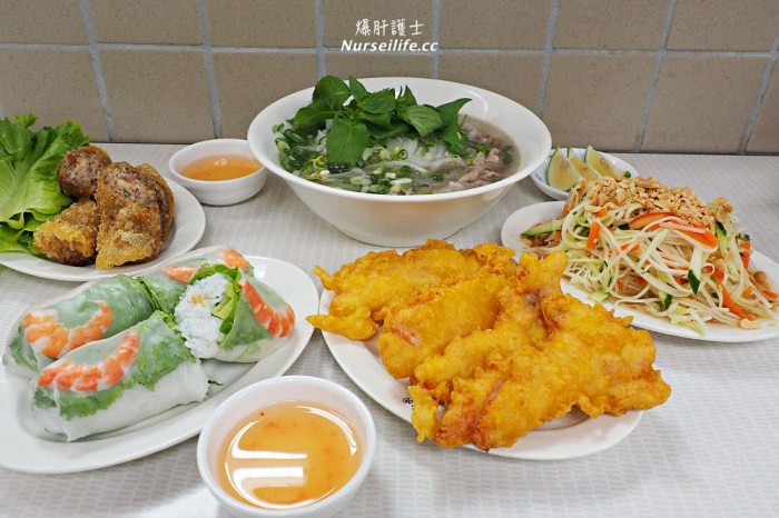 珍好呷越南河粉 士東市場平價大份量的越南美食.雞肉生菜捲超美味