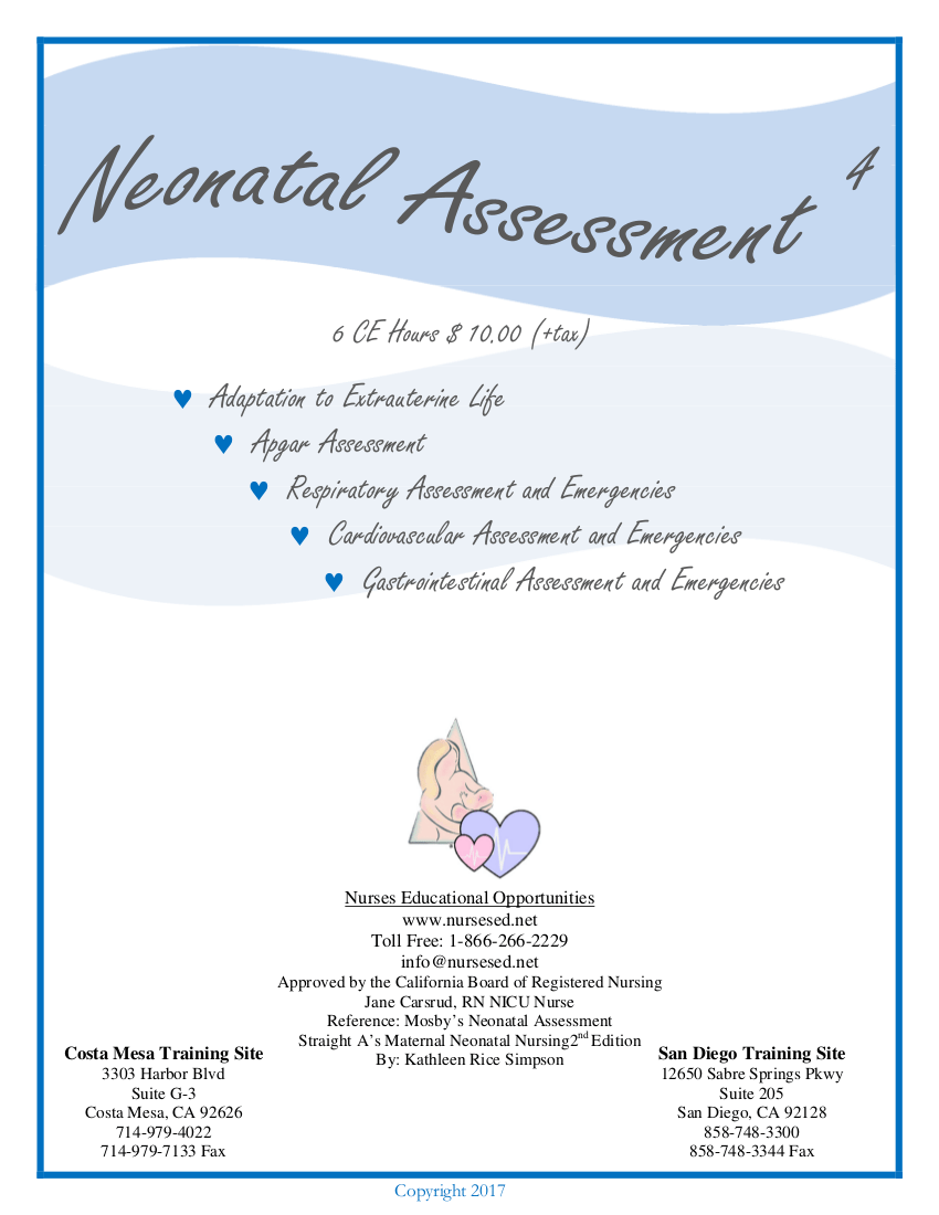 Neonatal Assessment text 2017