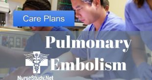 Pulmonary Embolism nursing care plan