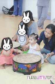 Drumming with classmates!