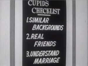 "Still from Coronet Instructional Films' ""Are You Ready For Marriage?"" 1950."