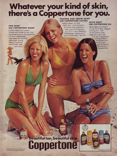 1976 Coppertone advertisement.