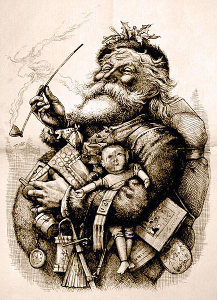1881 illustration of Santa Claus by Thomas Nast