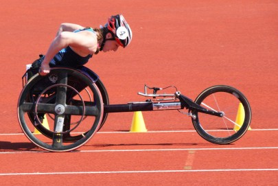 Paralympian Tatyana McFadden, at the BT Paralympics World Cup in 2009. Technology changed a lot over the past half-century, and has come to play as significant and at times controversial a role in the Paralympics as it has in the Olympics. (Stuart Grout/Flickr | CC BY)