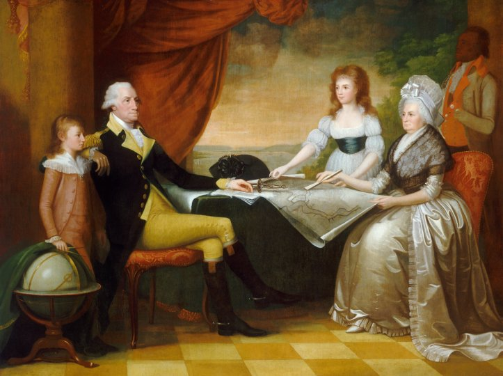 "Edward Savage's 1789-1796 painting, ""The Washington Family."" (US National Gallery of Art)"