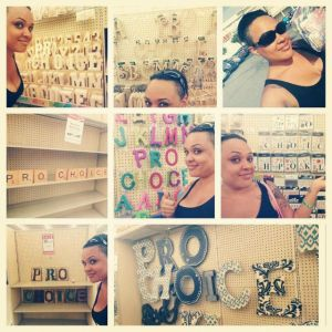 Jasmine Shea's crafty protests, July 2014
