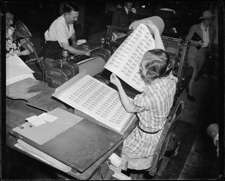 First printing of food stamps - 1939