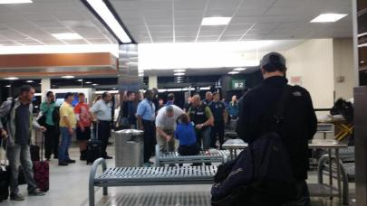 """@WGNO on Twitter: """"Victim of stabbing in blue being treated by medics #MSY #Shooting."""" (WGNO/Twitter)"""