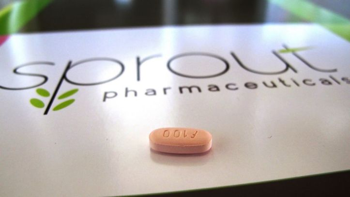 Sprout Pharmaceuticals logo with orange pill
