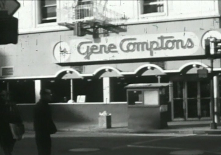 A view of Gene Compton's cafeteria. (Still frame from Screaming Queens documentary)