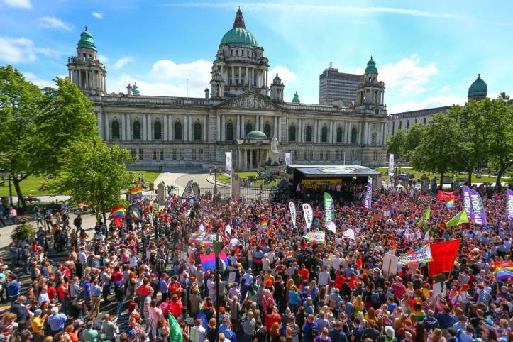 Amnesty International March for Equality, June 13, 2015, at the Belfast City Centre. (Kevin Scott/Presseye)
