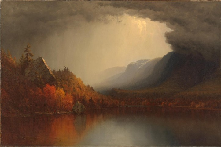 "Sanford Robinson Gifford, ""A Coming Storm,"" 1863, retouched and redated in 1880. (Smithsonian American Art Museum)"
