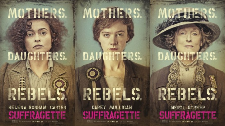 Advertising art for Suffragette. (Focus Features)