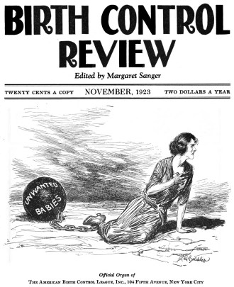 November 1923 cover of The Birth Control Review, edited by Margaret Sanger. (HathiTrust)