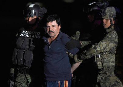 """Joaquin """"El Chapo"""" Guzman arrested again in January 2016. (Alfredo Estrella/AFP/Getty)"""