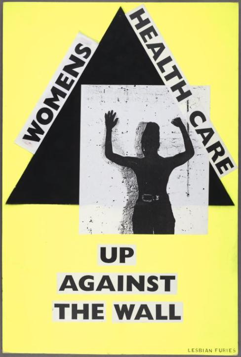 """Manuscripts and Archives Division, The New York Public Library. """"Women's health care. Up against the wall."""" New York Public Library Digital Collections."""