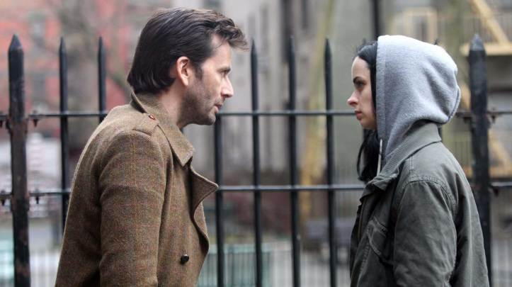Jessica Jones (Krysten Ritter) and Kilgrave (David Tennant). (Netflix)