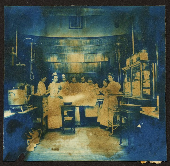 """Woman's Medical College students observing an operation at Woman's Medical College Hospital, ca. 1896. (""""Doctor or Doctress? Explore American History through the Eyes of Women Physicians,"""" The Legacy Center, Drexel University College of Medicine Archives & Special Collections.)"""